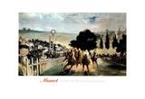 Manet Horse Racing Longchamp Art Print Poster jockey Posters