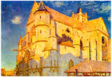 Alfred Sisley Church in Moret Art Print Poster Prints