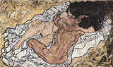 Egon Schiele (The Embrace (The Lovers)) Art Poster Print Masterprint