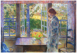Childe Hassam The Goldfish Window Art Print Poster Photo