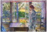 Childe Hassam The Goldfish Window Art Print Poster Prints