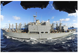 USNS San Jose (T-AFS 7, At Sea) Art Poster Print Poster