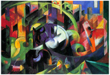 Franz Marc Abstract with Cattle Art Print Poster Pósters