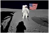 NASA Astronaut Spacewalk Moon Photo Poster Print - Poster