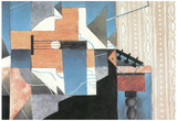 Juan Gris Guitar on a Table Cubism Art Print Poster Posters