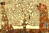 Gustav Klimt The Tree of Life in Brown and Gold Art Poster Print Masterprint