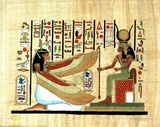 Egyptian Hieroglyphics MUMMY Ancient Art Print POSTER Masterprint