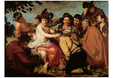 Diego Velázquez (The Drinker (The Triumph of Bacchus)) Art Poster Print Print