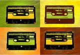 Audio Cassette Tapes Pop Art Print Poster Masterprint