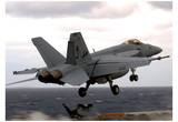F/A-18E Super Hornet (Take Off from Aircraft Carrier) Art Poster Print Poster