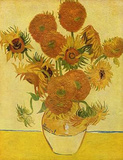 Vincent Van Gogh (Still life with sunflowers) Art Poster Print Masterprint