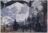 Claude Monet The Gare St-Lazare Art Print Poster Prints