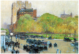 Childe Hassam Spring Morning in the Heart of the City Art Print Poster Posters