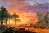 Albert Bierstadt The Oregon Trail Art Print Poster Plakát