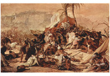 Francesco Hayez (The Seventh Crusade against Jerusalem) Art Poster Print Posters