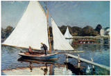 Claude Monet Sailing at Argenteuil Art Print Poster Posters