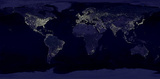 Earth By Night (Satellite View) Art Poster Print Masterprint