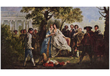 Francis Hayman - A Scene from Shakespeare's As You Like It, Art Poster Print Prints
