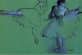 Edgar Degas Dancers at the Barre Art Print Poster Masterprint