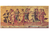 Giulio Romano (Dance Apollo with the Muses) Art Poster Print Posters