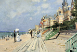 Claude Monet Beach at Trouville Art Print Poster Masterprint
