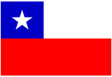 Chile National Flag Poster Print Prints
