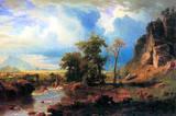 Albert Bierstadt Northern Fork of the Plate, Nebraska Art Print Poster Masterprint