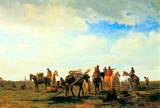 Albert Bierstadt Indians Near Fort Laramie Art Print Poster Masterprint