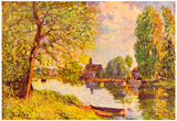 Alfred Sisley River Landscape in Moret Art Print Poster Prints