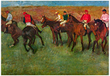 Edgar Germain Hilaire Degas (Horse race before the start) Art Poster Print Prints
