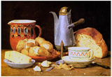 Albert Anker Still Life Coffee Milk and Potatoes Art Print Poster Posters