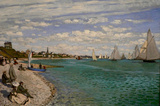 Claude Monet Regatta at Saint-Adresse Art Print Poster Masterprint