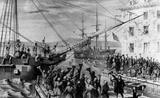 Boston Tea Party (Unloading Boat) Art Poster Print Masterprint