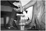 Couple With Champagne Archival Photo Poster Print Posters