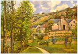 Camille Pissarro Landscape in Pontoise Art Print Poster Photo