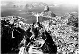 Kristus Frälsaren, Rio de Janeiro, arkivfoto Affischer