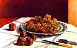 Alfred Sisley Still Life Grapes and Nuts Art Print Poster Masterprint