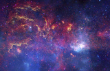 NASA's Great Observatories Examine the Galactic Center Region Space Photo Art Poster Print Masterprint