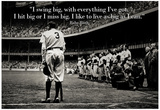 Babe Ruth Swing Big Quote Sports Poster Print Plakater