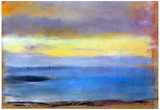 Edgar Degas Coastal Strip at Sunset Art Print Poster Poster