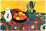 August Macke Still Life with Hyacinthe Art Print Poster Posters