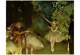 Edgar Germain Hilaire Degas (Ballet rehearsal) Art Poster Print Poster