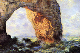 Claude Monet The Cliff at Etretat Art Print Poster Masterprint