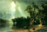 Albert Bierstadt Storm Over the Sierra Nevada Art Print Poster Masterprint
