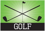 Golf Green Sports Poster Print Posters
