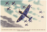 British Spitfires Figher Planes WWII War Propaganda Art Print Poster Posters