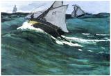 Claude Monet The Green Wave Art Print Poster Print