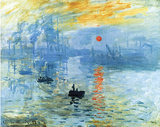 Claude Monet Impression Sunrise 1872 Art Poster Print Photo