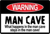 Man Cave Warning Sign Art Print Poster Masterprint