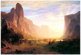 Albert Bierstadt Yosemite Valley Landscape Art Print Poster Posters